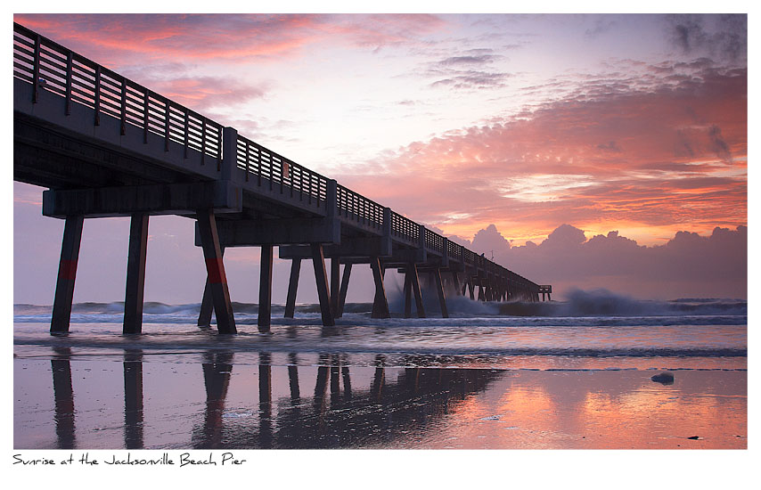 Click to purchase: Sunrise at the Jacksonville Beach Pier