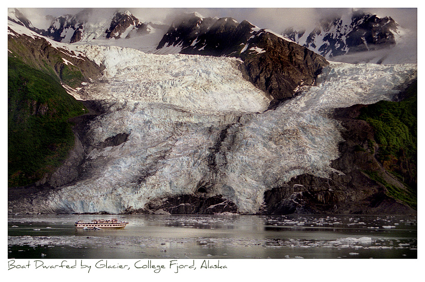 Click to purchase: Boat Dwarfed by Glacier