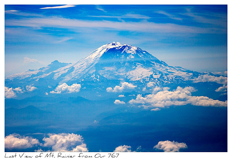 Click to purchase: Mt. Rainier from our 767